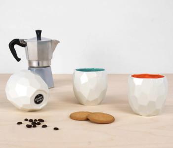 Polygoon koffie bekers van Studio Lorier koop je bij shop.holland.com