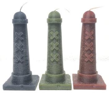 Kaarsen Amsterdammertjes van 15 cm in 3 kleuren bij shop.holland.com