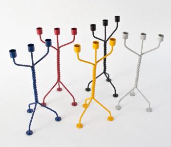 De Twisted kandelaars in 5 kleuren