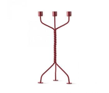 Twisted kandelaar van Werkwaardig in rood