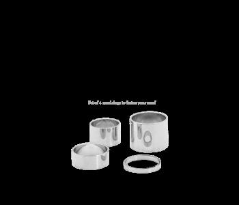 Sjaalkralen zilverkleur set van 4