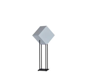 Deze Starlight Low is 90 cm hoog en heeft naar keuze een witte of lichtgrijze kubus.