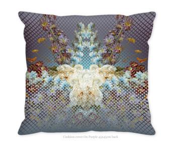 Hendrik' Design kussenovertrek On purple 45x45 cm achterzijde