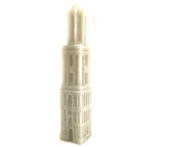 Kaars Domtoren Utrecht - 33 cm zandkleur koop je bij shop.holland.com