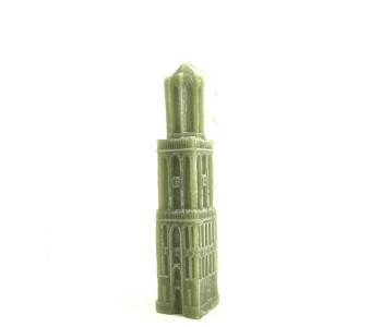 Kaars Domtoren Utrecht 22 cm hoog in olijfgroen koop je bij shop.holland.com