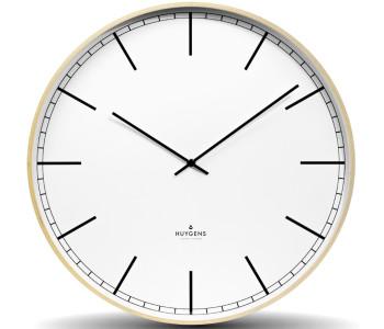 Huygens wandklok hout 45cm met stil quartz uurwerk - prachtige woondecoratie