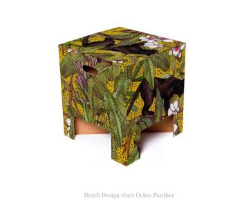 Dutch design krukje oker panter van karton bij shop.holland.com