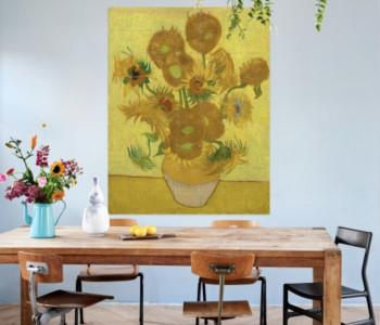 IXXI Zonnebloemen wand decoratie van Van Gogh bij shop.holland.com - leuk cadeau