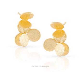 Clic oorstekers Belle 14k verguld zilver - een bijzonder cadeau