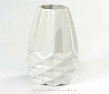 Diamant vaas Small Fairtrade original wit facet small
