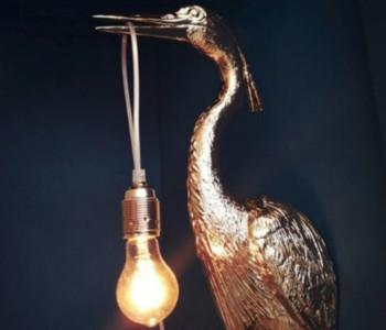 Wandlamp The Flying Dutchman van Jasmin Djerzic in goud