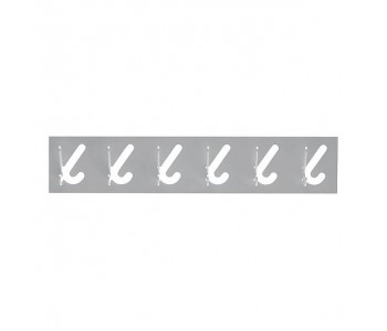 Gispen design 1x6 kapstok met 6 haken in de kleur grijs
