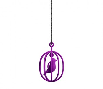 Dutch design ketting Happy Bird paars van Soonsalon