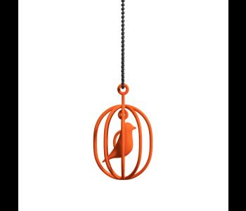 3D printed Happy Bird ketting in de kleur oranje: leuk cadeau