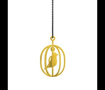 Geef een Soonsalon Happy Bird ketting geel cadeau voor Valentijn, Moederdag, Sinterklaas of Kerstmis
