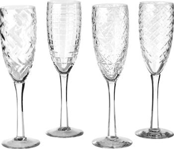 Set van 4 heldere champagneglazen van Pols Potten vind je bij Holland Design & Gifts