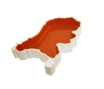 Schaal Holland Box in oranje van Royal Goedewaagen ontwerp Sander Alblas
