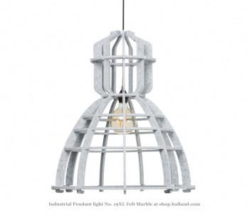 No. 19XL Industriële hanglamp in marble PET-vilt van Olaf Weller