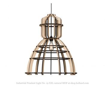 No. 19XXL Industriële hanglamp in MDF 90 cm ø van Olaf Weller