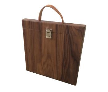Noten houten koffer voor je iPad 3, iPad 4 of android tablet