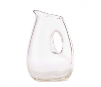 Jug with hole, heldere waterlkaraf van Pols Potten