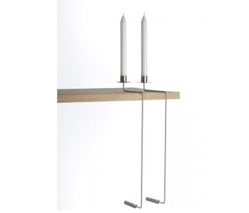 Duo design hangover kandelaar aluminium - bijzonder ontwerp waar je een statement mee maakt