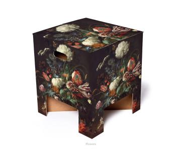 Dutch design krukje flowers van karton bij shop.holland.com
