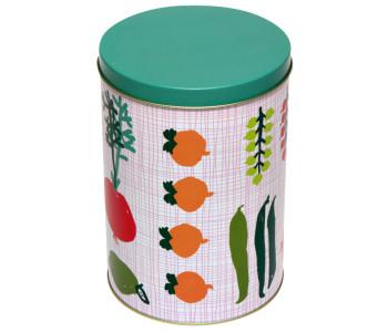 Kitsch Kitchen voorraadbus Porre met groenten en fruit dessin