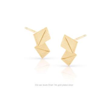 Clic oorstekers Onah 14k verguld zilver koop je bij shop.holland.com
