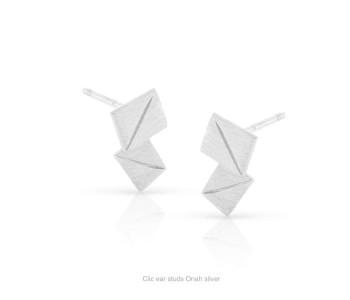 Clic oorstekers Onah zilver koop je bij shop.holland.com