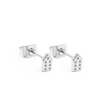 De Jordaan oorstekers verzilverd van het merk Riverstones bij shop.holland.com