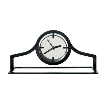 Gispen Outline tafelklok low van zwart staal door Peter van de Water