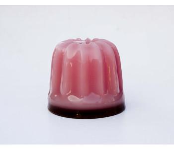 Design kaars Dessert van Atelier OZO in de kleur roze