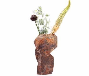 Paper vase cover ofwel papieren vouw vaas in natural stone koop je natuurlijk bij shop.holland.com