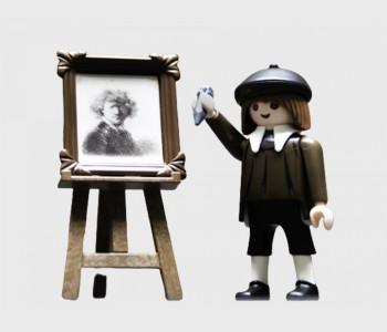 Rembrandt figuurtje Playmobil van het Rijksmuseum bij shop.holland.com