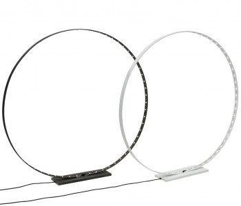 Circle L Led Lamp van Silhouet Lighting 65 cm ø zwart of wit staal