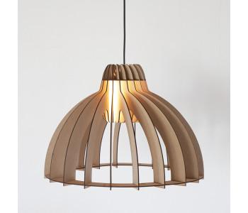 Houten design hanglamp Granny Smith van Tjalle en Jasper, bouwpakket