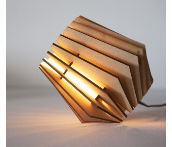 Spot-nik, houten design lamp van Tjalle en Jasper