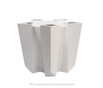 JVDV-A1 Tulpenvaas wit door Bas van Beek bij shop.holland.com