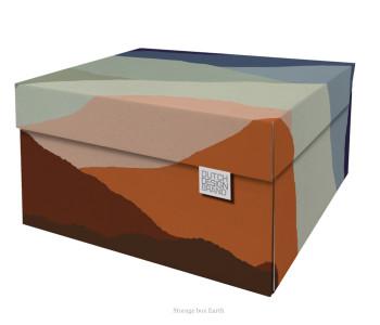 Opberg box Earth voor het netjes opbergen van waardevolle papieren