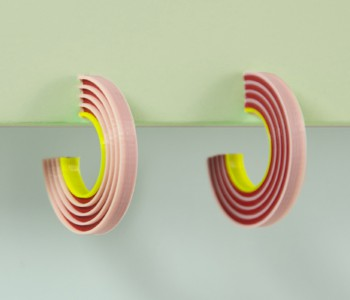Tracks Oorbellen Pinkish van Turina Sieraden