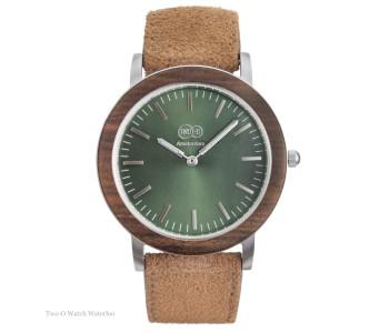Messing Tube D38 horloge met bruin leren band van Piet Hein Eek voor LEFF Amsterdam: relatiegeschenk of kerstcadeau!