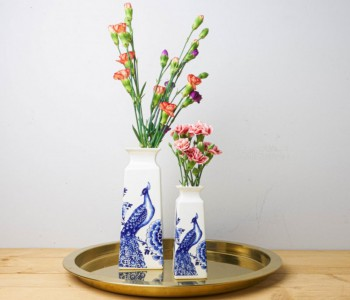 Delfts Blauw Vaas Large & Small - Pauw en Bloemen