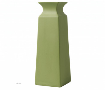 Vaas vierkant groen 20 cm hoog
