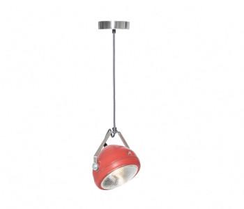No.5 Vintage Hanglamp Koplamp rood met donkergrijs snoer koop je bij shop.holland.com