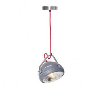 No.5 Vintage Hanglamp Koplamp grijs met rood snoer koop je bij shop.holland.com