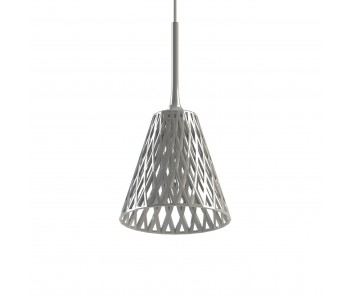 Glanzend witte Wicker hang lamp uit de 3D printer