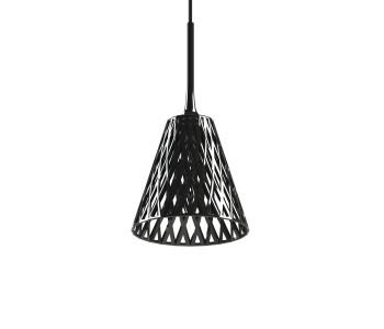 Wicker Hanglamp Zwart 3D geprint