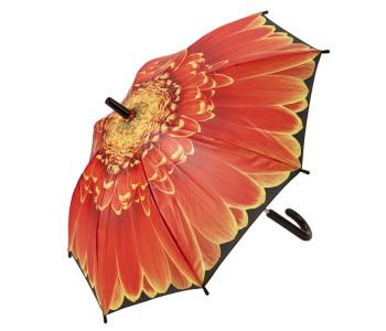 Kleine Kitsch Kitchen paraplu met oranje Gerbera bloem kitchen paraplu
