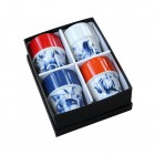 Bekers Hollands Blauw - Set van 4